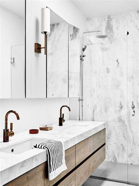 modern marble bathroom 25 best ideas about wood vanity on reclaimed