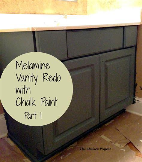 chalk paint melamine melamine bath vanity refinished without stripping sanding