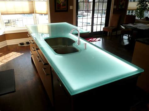 kitchen countertop lighting glass countertop island with led lighting designed by cgd