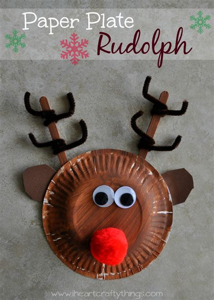 reindeer paper crafts i crafty things paper plate rudolph reindeer