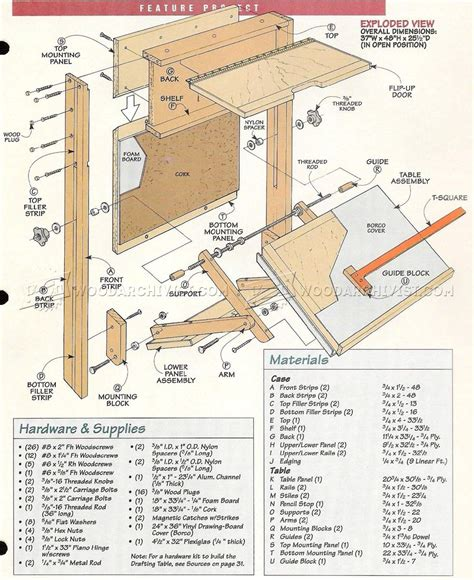 woodworking plans drafting table 373 fold drafting table plans workshop solutions