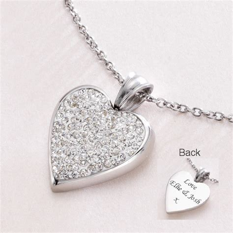 how to make engraved jewelry engravable necklace with crystals charming engraving