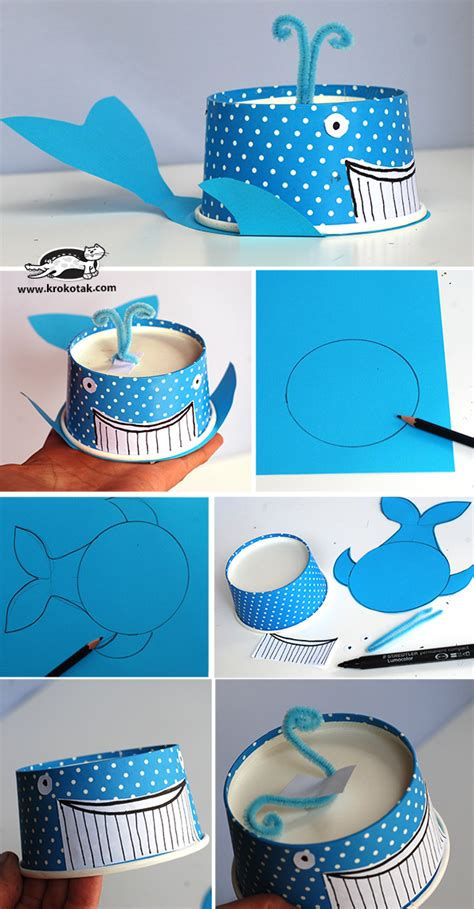 paper cup craft for 70 creative sea animal crafts for creatures