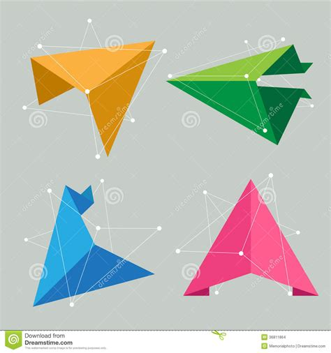 origami science abstract origami science concept stock vector image