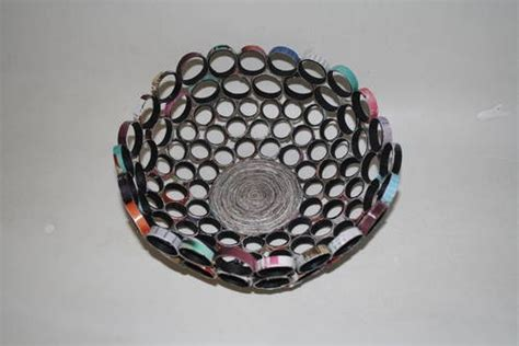 Rolled Paper Bowl Recycled Crafts For Juniors