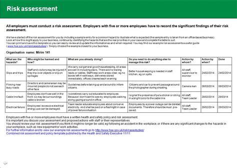 risk assessment health safety risk assessment health and safety risk