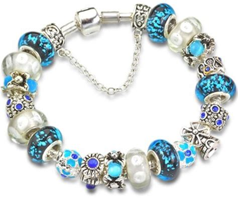 glass beaded bracelets s day gifts blue murano glass bead charm beaded