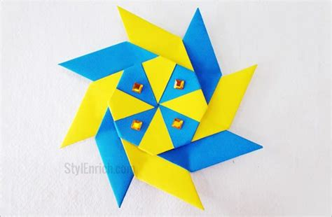 origami 8 pointed origami how to make 8 pointed for