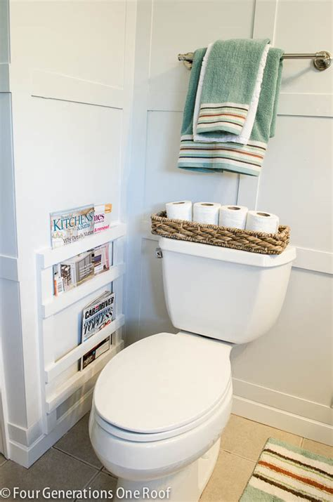 bathroom magazine storage before and after archives four generations one roof