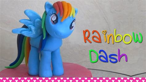 how to make a out of pony how to make rainbow dash my pony cake topper