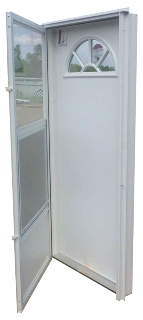 mobile home exterior doors 32x72 aluminum door fan window rh for mobile home
