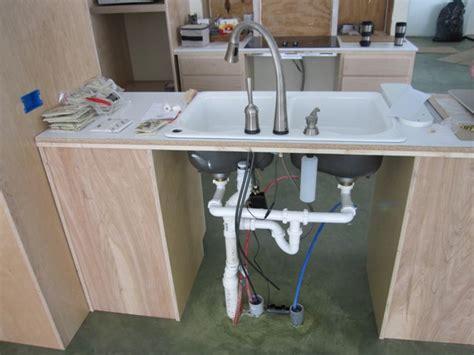 kitchen sink drain plumbing brainright cottage kitchen cabinets