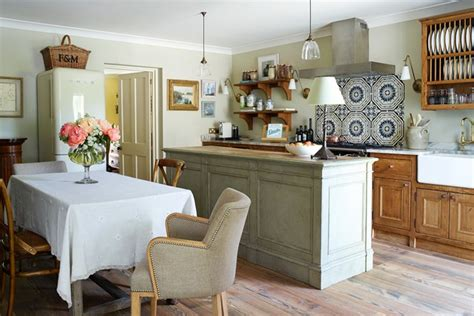 country home kitchen ideas wooden island with table chairs country kitchen design