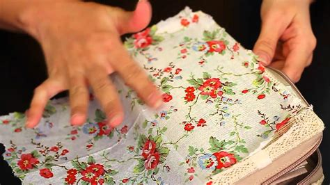 how do you do decoupage let s diy napkin decoupage on fabric purse