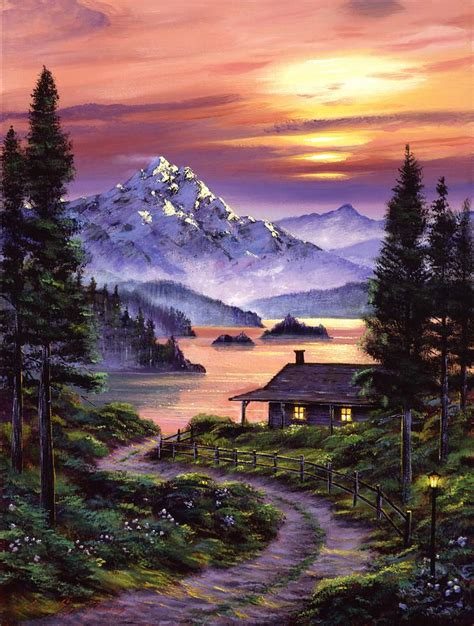 paint nite mountain view 25 best ideas about mountain paintings on