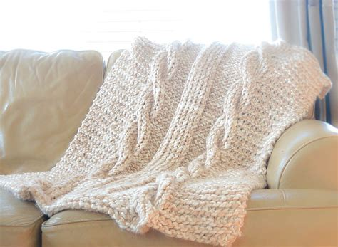 free knitting afghan patterns endless cables chunky knit throw pattern in a stitch
