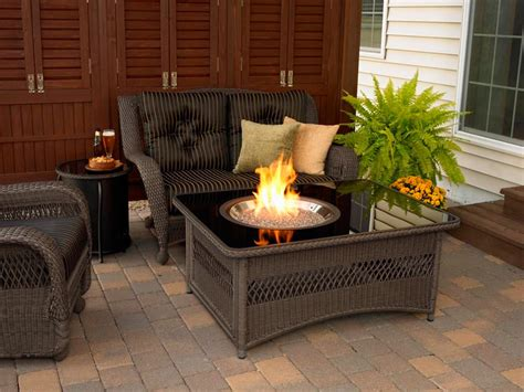 patio fireplace table patio table with propane pit pit design ideas