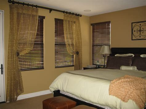 bedroom curtain ideas with blinds large black wooden bed with white bedding set placed on