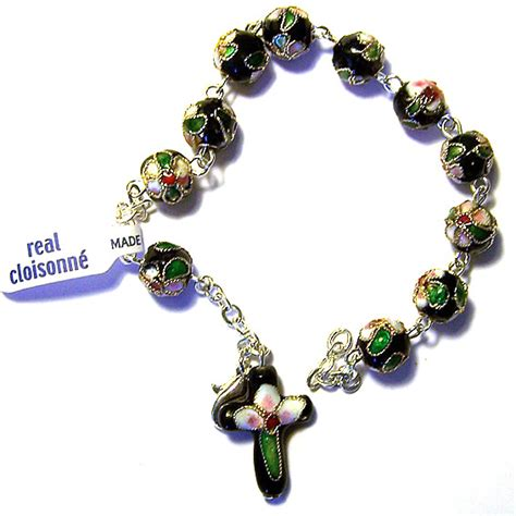 cloisonne rosary cloisonne rosary bracelet from italy with free luminous