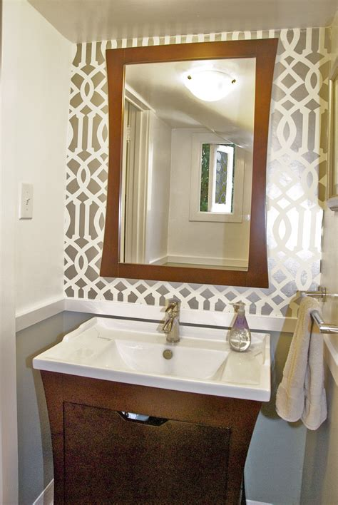 Overstock Bathroom Vanities by Powder Room Reveal Tiny Silver Gem Jewels At Home