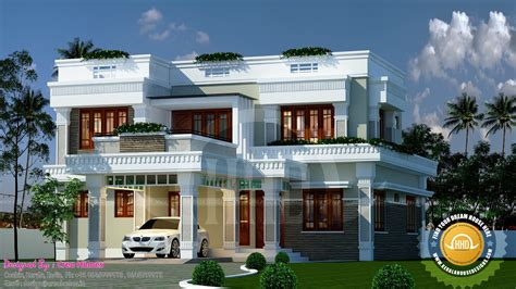 and house plans decorative flat roof home plan kerala home design and floor plans