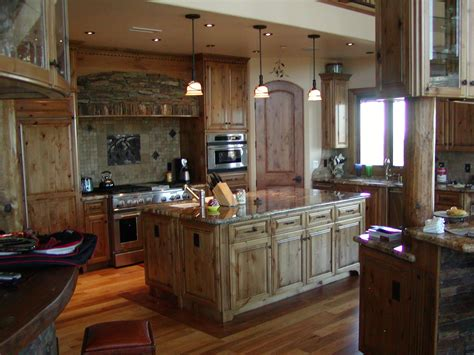 What Are Kitchen Cabinets Made Of hand crafted knotty alder custom made kitchen cabinets