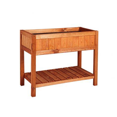 bac potager rectangulaire en bois sur pied