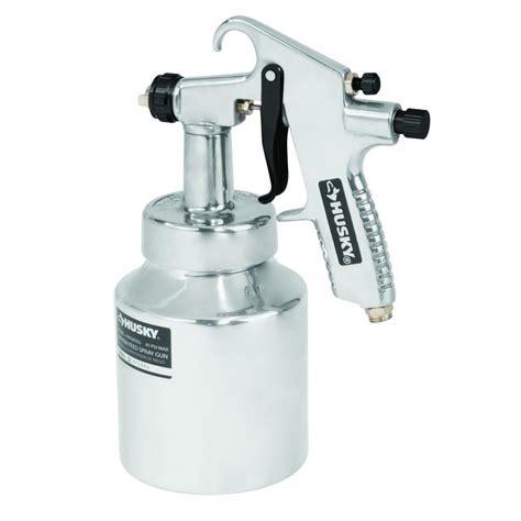 using a home depot paint sprayer husky sprayers siphon feed general purpose spray gun