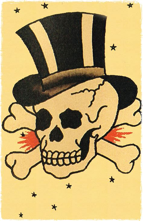 11 x 17 pirate skull wearing a top hat jolly roger sailor