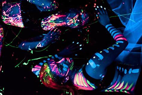 glow in the paint dangerous uv paint neon glow kit set of 8 bottles 75 oz each