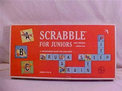 scrabble for juniors ebluejay 1964 scrabble for juniors edition 2 complete