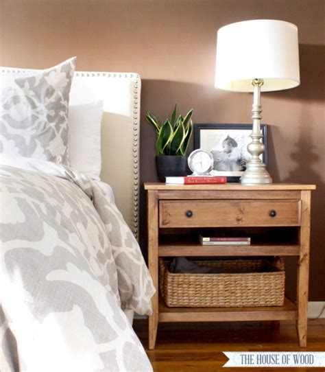 bedside table designs diy bedside table with drawer and shelf free plans