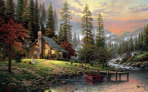 bob ross painting cabin bob ross paintings landscapes paintings landscapes