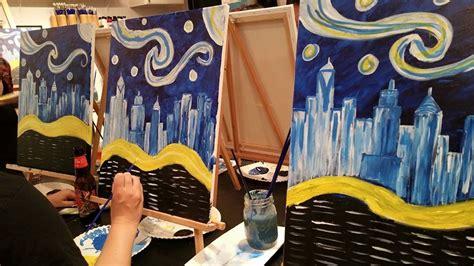 paint nite nyc byob activties nyc paint sip studio ny