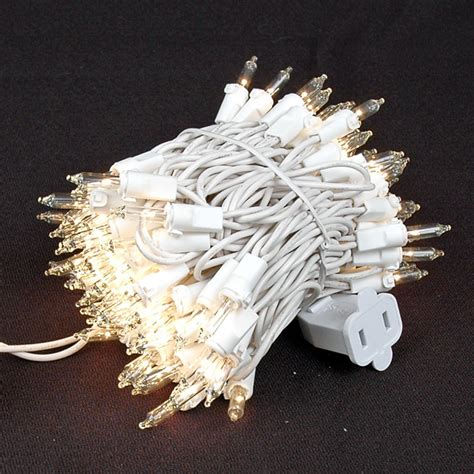 white lights on white wire mini lights sets 100 light white wire 2 5 quot spacing
