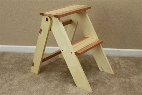 step stool woodworking plans wooden folding step stool by thorinoakenshield