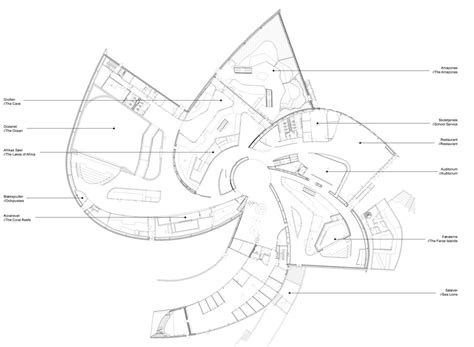 aquarium floor plan 3xn blue planet aquarium open to the