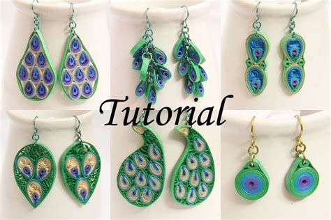 quilled jewelry tutorials step by step paper quilling peacock earrings in chain and cluster