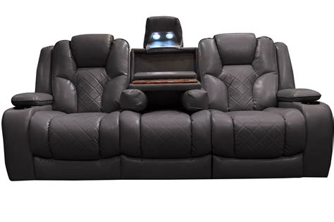 reclining sofa with bastille power reclining sofa with drop table