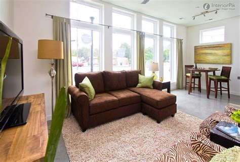 sofas for small living rooms yellow sofa with walls wall color and brown