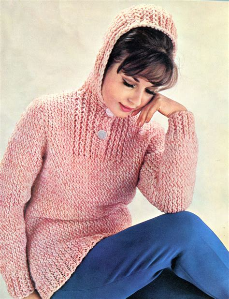 knitted hoodie pattern womens hooded knit sweater pattern