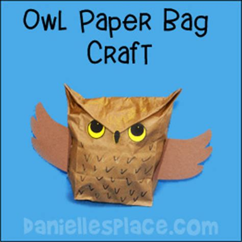 paper bags crafts owl crafts and learning activities for
