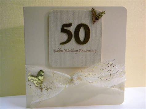wedding anniversary cards to make 50th wedding anniversary card the handmade card