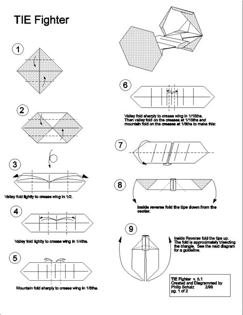 how to make an origami tie tie fighter ties and origami on