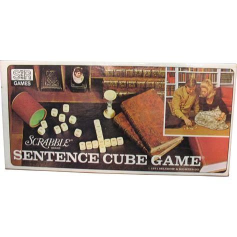 scrabble sentence cube vintage scrabble brand sentence cube 1971 complete