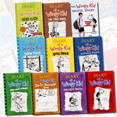 pictures of diary of a wimpy kid books diary of a wimpy kid collection 10 book set by jeff kinney