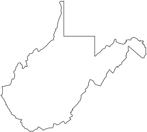 Virginia State Map Outline Maps Map Usa Images Free