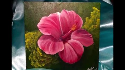 acrylic paint flowers acrylic painting hibiscus flower