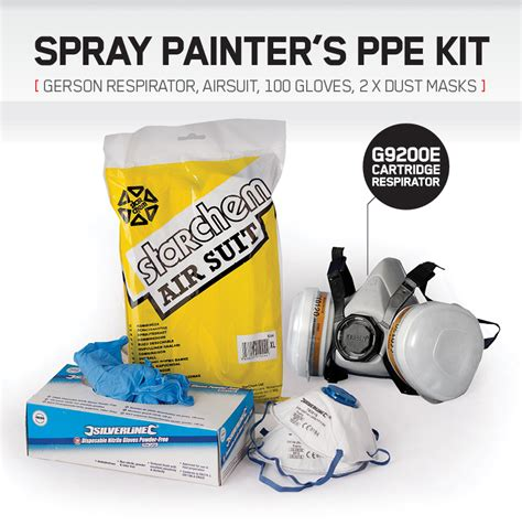 spray painter kit spray painting ppe kit gerson mask dust masks nitrile