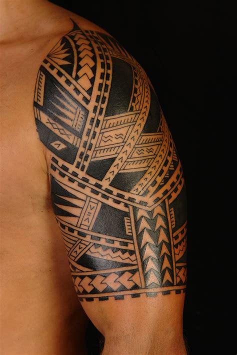 maori polynesian tattoo polynesian samoan half sleeve